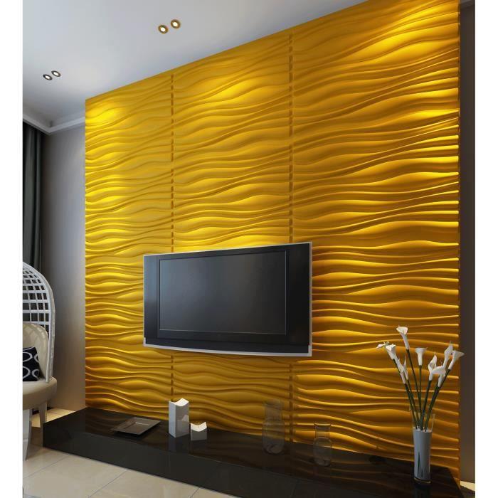 Panneaux muraux 3d d coration id al pour les murs de chambres salons et cuis - Panneau decoration murale ...