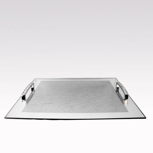 plateau miroir strass luxe achat vente plat de service soldes cdiscount. Black Bedroom Furniture Sets. Home Design Ideas