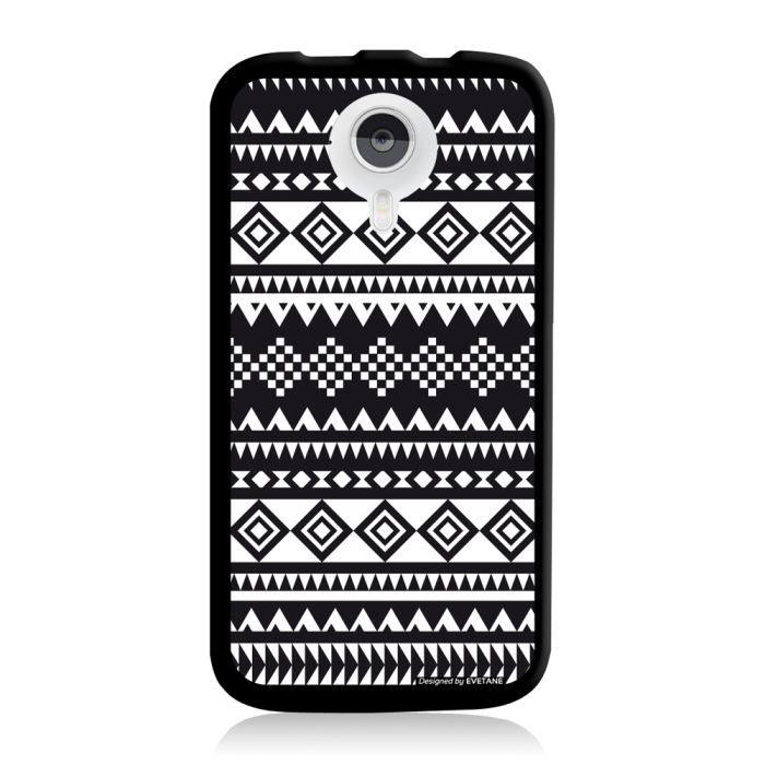 Coque motif azteque noir et blanc pour wiko cink five achat vente coque motif azteque noir - Motif noir et blanc ...