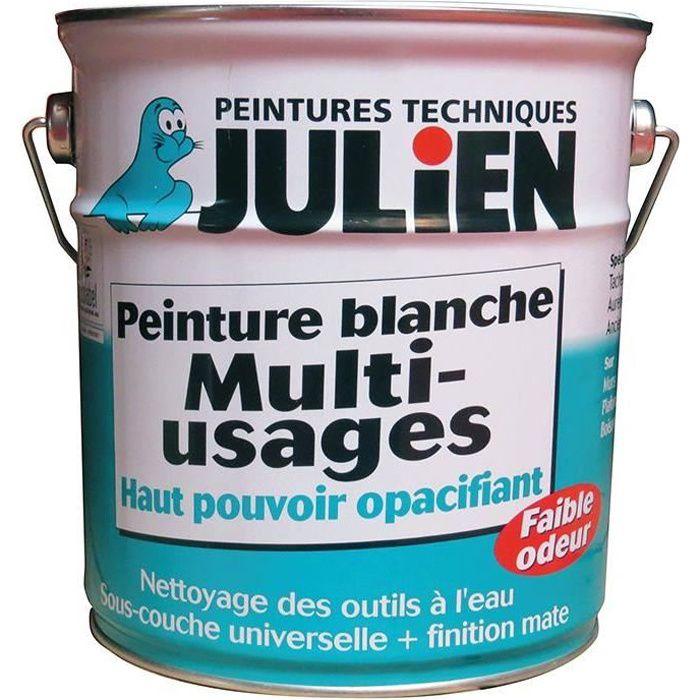 Peinture multi usages julien blanc 500 ml achat for Prix peinture julien