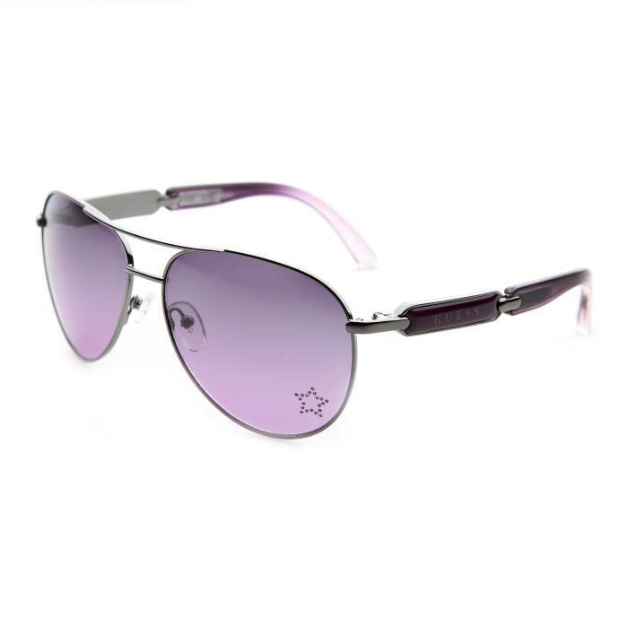 lunettes de soleil femme guess gris achat vente. Black Bedroom Furniture Sets. Home Design Ideas
