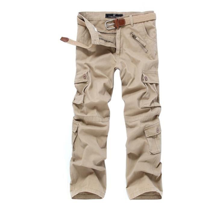 Pantalon cargo homme achat vente pantalon cargo homme pas cher cdiscount - Pantalon multipoche homme ...