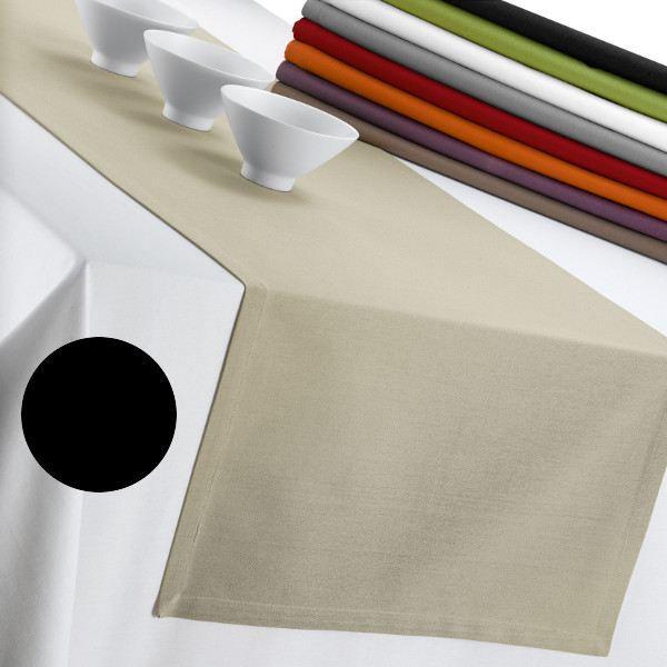 Chemin de table coton loft 50 x 175 noir achat vente - Set de table coton ...