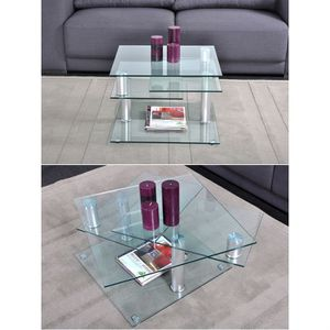table basse carree verre achat vente table basse carree verre pas cher les soldes sur. Black Bedroom Furniture Sets. Home Design Ideas