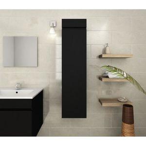 LUNA Colonne de salle de bain 30 cm - Noir mat