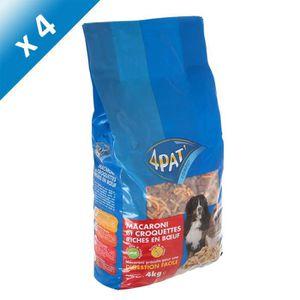 4PAT Macaroni et croquettes riches en b?uf - Pour chien - (x4)