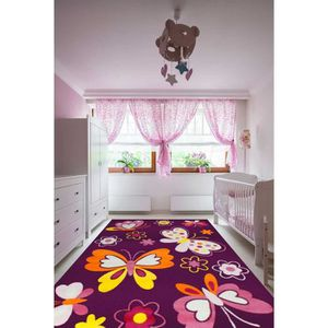 tapis tapis chambre filles bambino papillon violet 120x1 - Tapis De Chambre Fille