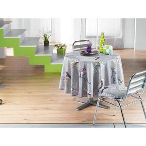 Nappe ronde en polyester imprimee achat vente nappe - Table ronde 180 cm diametre ...