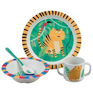 ENSEMBLE REPAS Coffret Cadeau 4 Pièces A Table Dans la jungle Art
