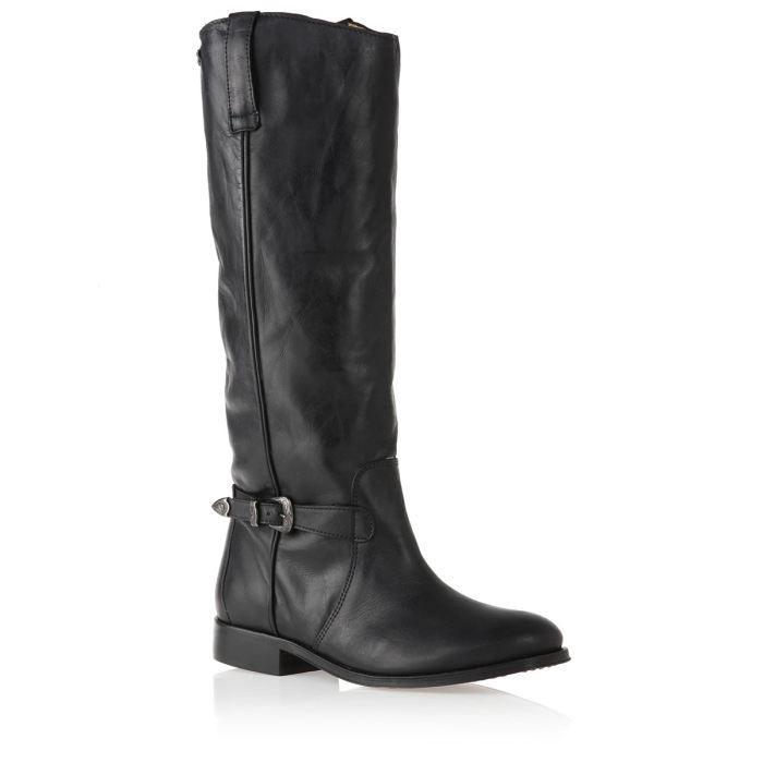 bottines noires femme cuir