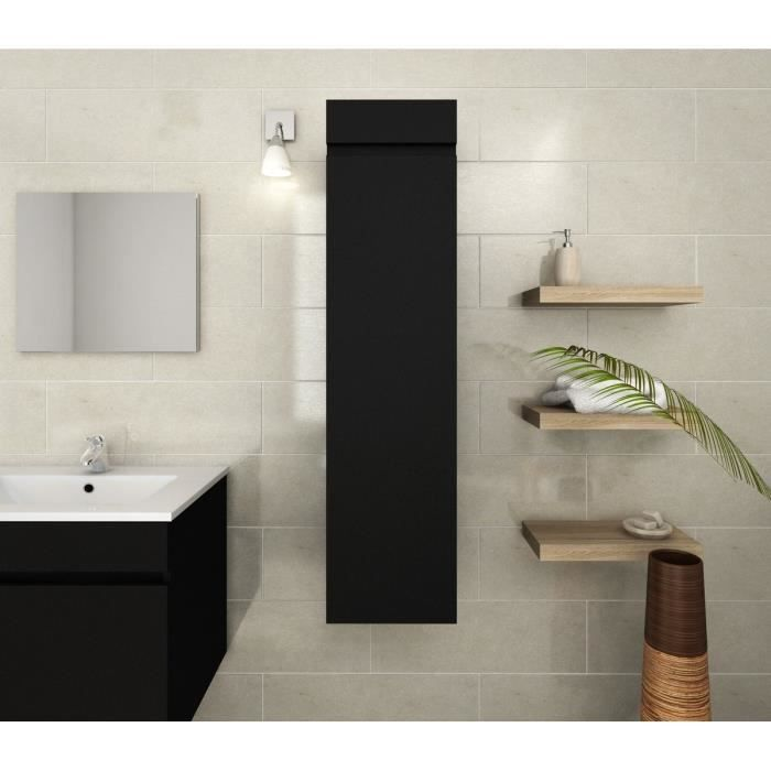luna colonne de salle de bain 30 cm noir mat achat. Black Bedroom Furniture Sets. Home Design Ideas