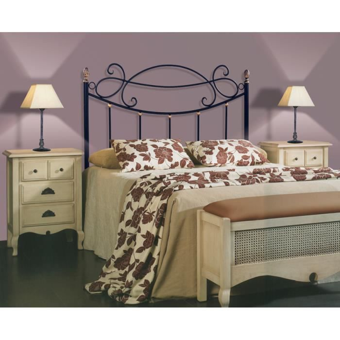 t te de lit en fer forg mod le aries achat vente t te de lit soldes d t cdiscount. Black Bedroom Furniture Sets. Home Design Ideas