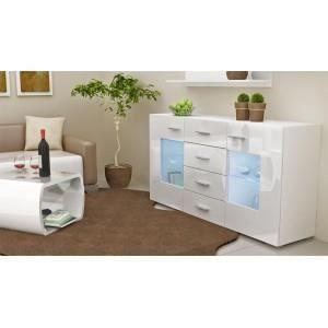 bahut design laqu blanc non oui oui achat vente. Black Bedroom Furniture Sets. Home Design Ideas