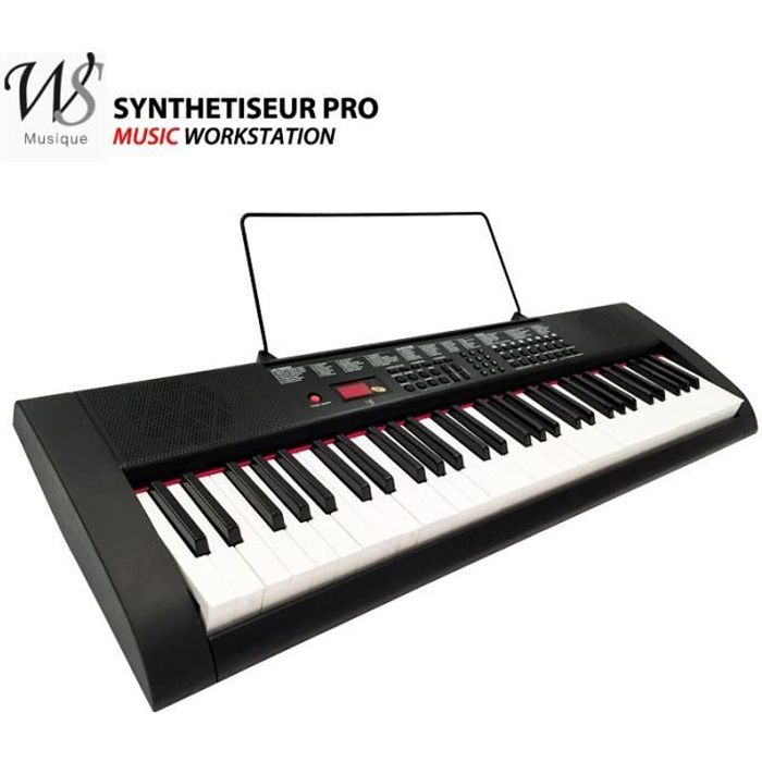 clavier piano synthetiseur electrique 61 touches achat. Black Bedroom Furniture Sets. Home Design Ideas