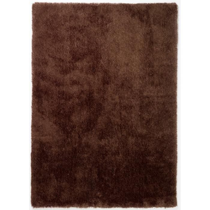 tapis shaggy a poils long colourcourage marron achat vente tapis cdiscount. Black Bedroom Furniture Sets. Home Design Ideas