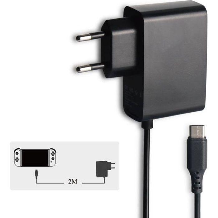 chargeur secteur type c pour nintendo switch console et accessoires achat vente chargeur. Black Bedroom Furniture Sets. Home Design Ideas