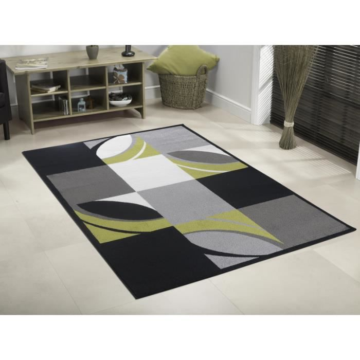 tapis moderne capri 1620 vert 200 x 290 cm achat vente tapis cdiscount. Black Bedroom Furniture Sets. Home Design Ideas
