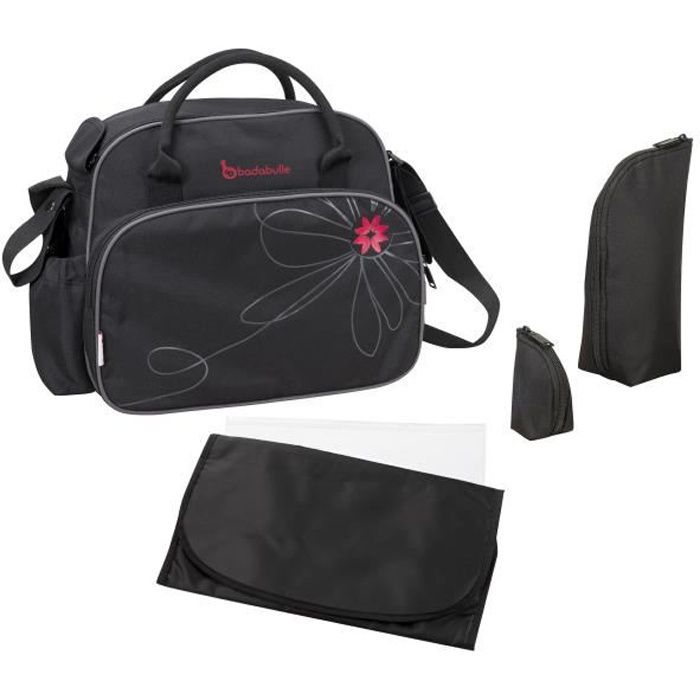 badabulle sac langer vintage noir noir achat vente sac langer 3661787004550 cdiscount. Black Bedroom Furniture Sets. Home Design Ideas