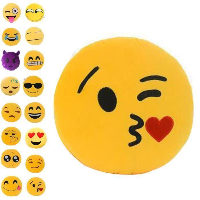 ELENXS® Coussin / Oreiller/ Pillow/ Peluche Emoji Adorable