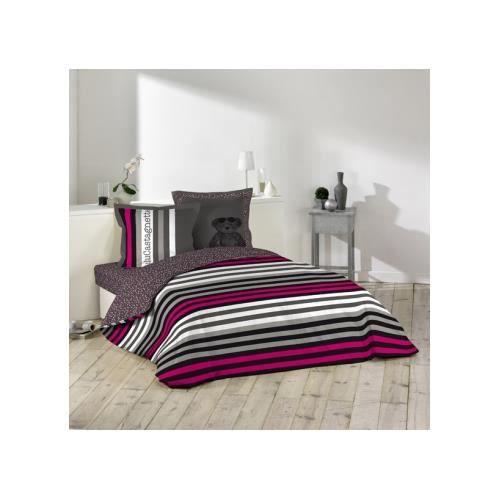 parure de couette 240x220 lulu rock achat vente parure de couette cdiscount. Black Bedroom Furniture Sets. Home Design Ideas