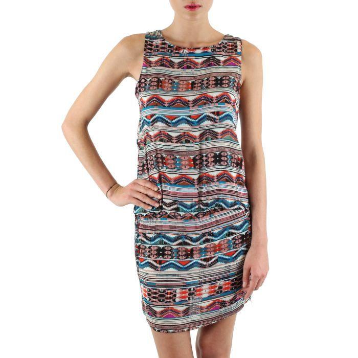 Robe ethnique rose achat vente robe robe ethnique cdiscount - Vetement ethnique discount ...