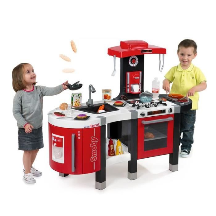 Smoby 311201 cuisine french touch bubble sonore et - Cuisine tefal french touch ...