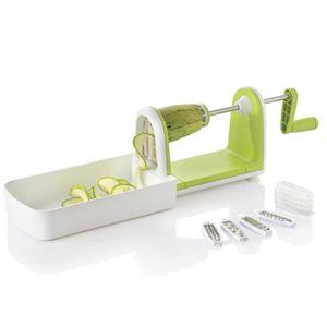 ARD'TIME Coupe légumes Spirale slicer Spirale&Cook - 4 Différentes lames avec rangement - Multicoupeurs - Boite couleur - Vert