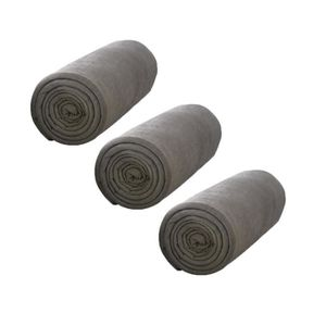 TODAY Pack de 3 Draps Housse 100% coton 90x190 cm bronze