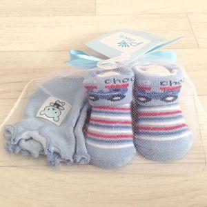 COFFRET CADEAU TEXTILE Set naissance, chaussettes+moufles