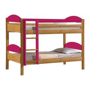 lit superpose pour fille achat vente lit superpose pour fille pas cher cdiscount. Black Bedroom Furniture Sets. Home Design Ideas