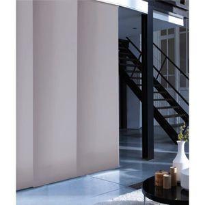 panneau japonais tamisant uni gris poivre 45x260cm achat vente panneau japonais 100. Black Bedroom Furniture Sets. Home Design Ideas