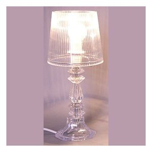 Lampe deco miss baroque transparente achat vente lampe for Lampe a poser baroque