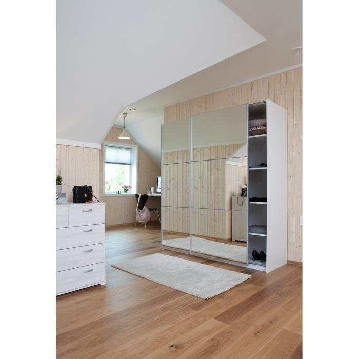 Cordoba armoire 180x60x200 cm portes miroirs achat for Miroir 140 x 60