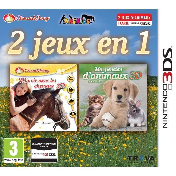 ma vie avec les chevaux pension animaux jeu 3ds achat vente jeu 3ds 2 jeux en 1 chevaux. Black Bedroom Furniture Sets. Home Design Ideas