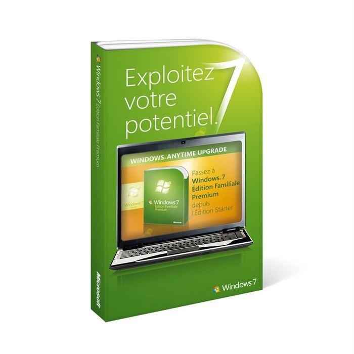 SYSTÊME D'EXPLOITATION Mise à niveau Windows 7 Starter vers Premium