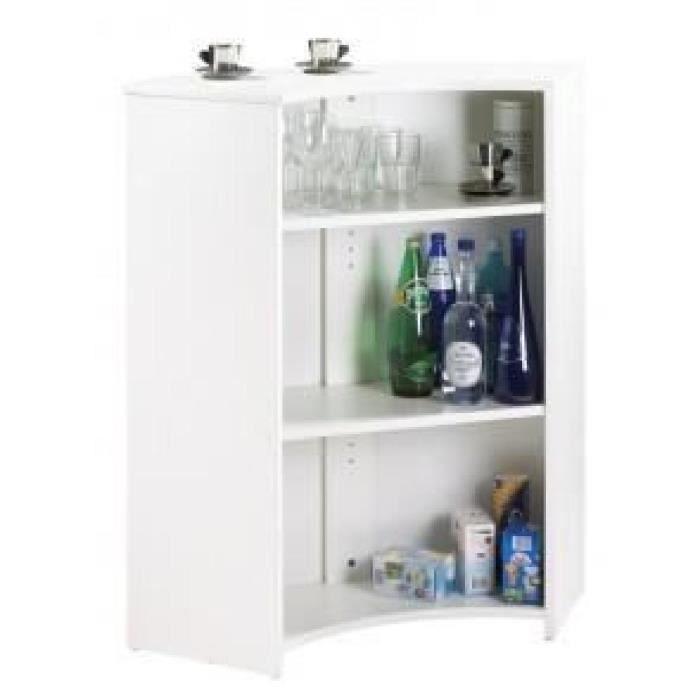 Meuble comptoir meuble bar blanc coloris drapeau for Meuble comptoir