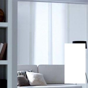 panneau japonais occultant blanc achat vente panneau japonais cdiscount. Black Bedroom Furniture Sets. Home Design Ideas