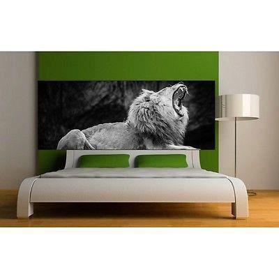 papier peint t te de lit lion 3661 dimensions 260x101cm achat vente papier peint cdiscount. Black Bedroom Furniture Sets. Home Design Ideas