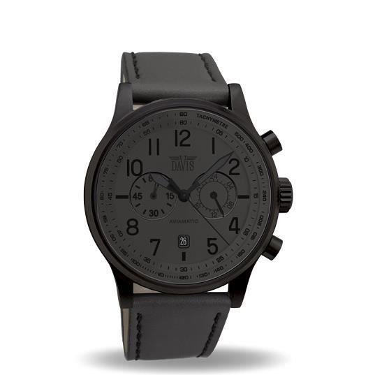 montre homme aviateur 42mm chrono etanche 50m noir achat vente montre cdiscount. Black Bedroom Furniture Sets. Home Design Ideas