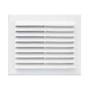 Grille ventilation rectangulaire blanc clipser ext 204x230mm tube 140 - Grille de ventilation hygroreglable ...