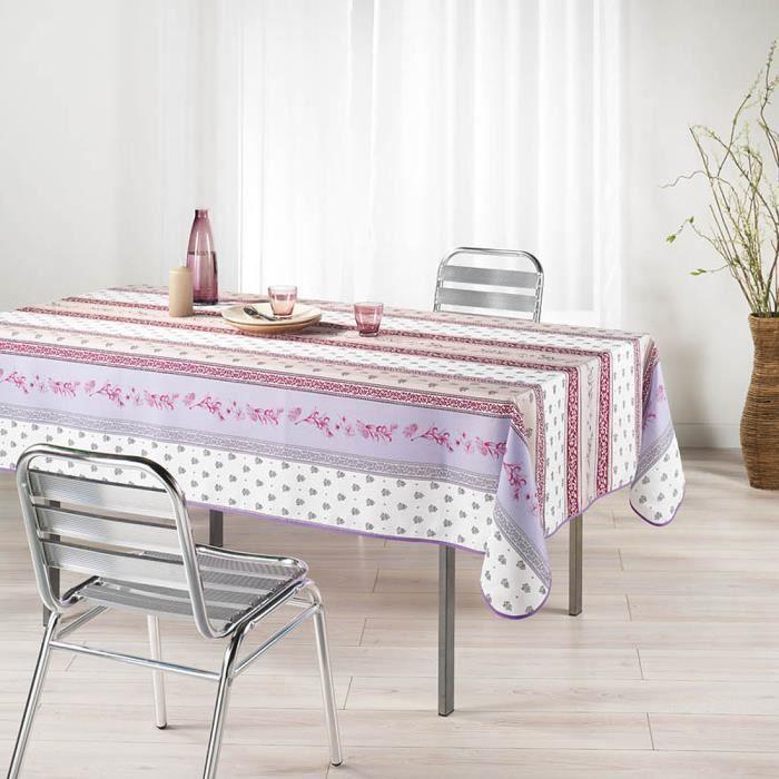 nappe infroissable antitache meridional lilas achat vente nappe de table cdiscount. Black Bedroom Furniture Sets. Home Design Ideas