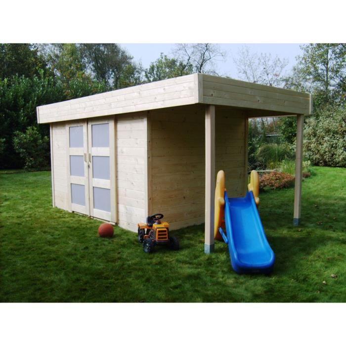 Abri jardin bois larvik m x x m 28 mm achat vente abri jardin - Abri de jardin yardmaster m angers ...