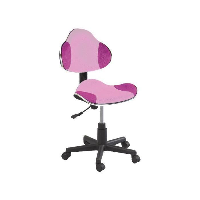 Justhome q g2 chaise fauteuil de bureau rose 84 95 x 48 for Fauteuil de bureau rose