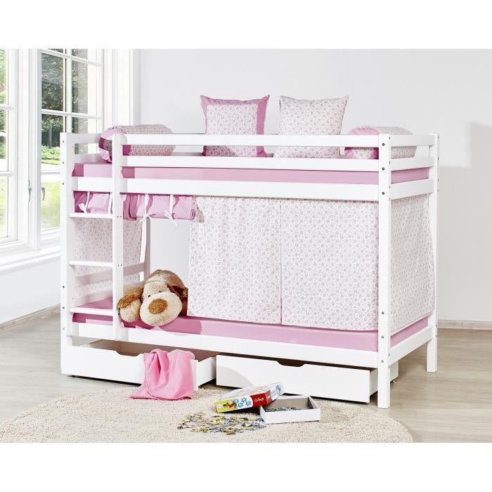 loop princesse lit superpos enfant 90x200cm blanc achat vente structure de lit loop. Black Bedroom Furniture Sets. Home Design Ideas