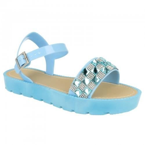 savannah sandales strass femme bleu clair bleu clair achat vente sandale nu pieds. Black Bedroom Furniture Sets. Home Design Ideas