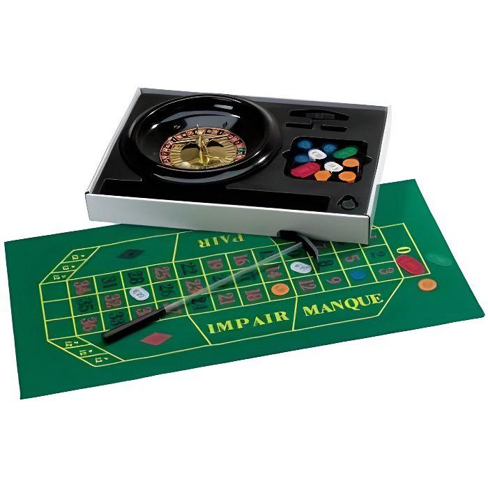 Set complet de roulette 30 cm jeu de casino achat for Table 4 en 1 intersport