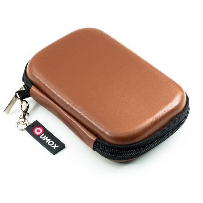 Qumox housse de protection en cuir brun pour disque dur for Housse disque dur externe samsung m3