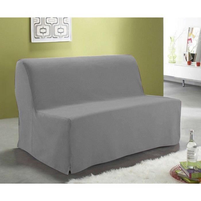 housse de bz dos couvert grise140 cm achat vente. Black Bedroom Furniture Sets. Home Design Ideas