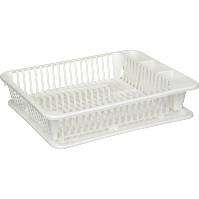 egouttoir vaisselle avec plateau kitchen ware achat vente egouttoir couverts egouttoir. Black Bedroom Furniture Sets. Home Design Ideas