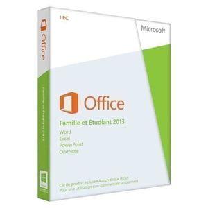 Office Famille et Etudiant 2013 – 1 PC
